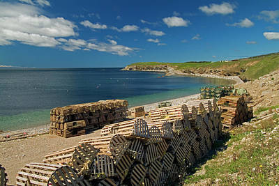 Trapped Photograph - Lobster Traps Along St. Georges Bay by Mike Grandmaison