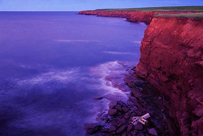 Trapped Photograph - Lobster Traps At Base Of Cliff, Cape by Garry Black