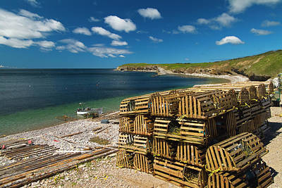 Trapped Photograph - Lobster Traps, Port-au-port Peninsula by Mike Grandmaison