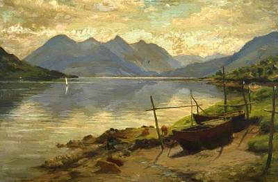 Joseph Farquharson Wall Art - Painting - Loch Duich And The Five Sisters 1905 by Farquharson Joseph