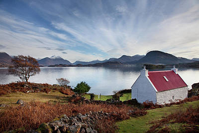 Torridon Wall Art - Photograph - Loch Torridone Cottage by Billy Currie Photography