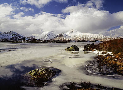 Photograph - Lochan Na H-achlaise And Black Mount, Scotland by Peter OReilly