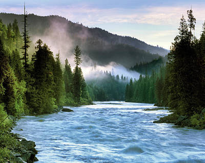Lochsa River Art Print by Leland D Howard