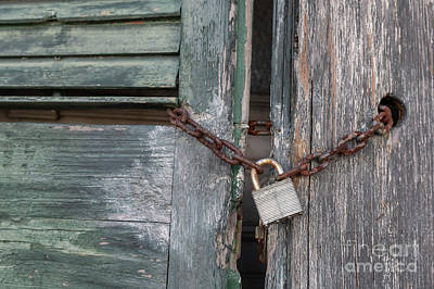 Photograph - Locked by Jim West