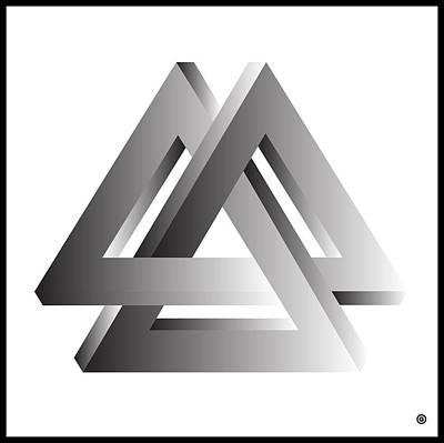 Digital Art - Locking Triangle  by Gary Grayson