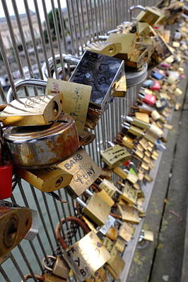 Photograph - Locks Of Forever Love-paris by Jeffrey PERKINS