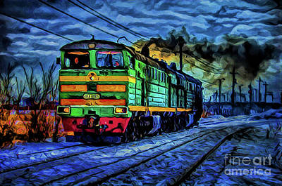 Photograph - Locomotive A8-5 by Ray Shrewsberry