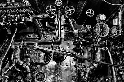 Photograph - Locomotive Gauges And Valves by Paul W Faust - Impressions of Light