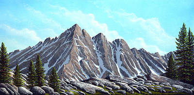 Painting - Lofty Peaks by Frank Wilson
