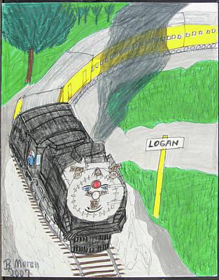 Drawing - Logan by Barb Moran