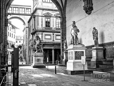 Photograph - Loggia Dei Lanzi Florence by John Rizzuto