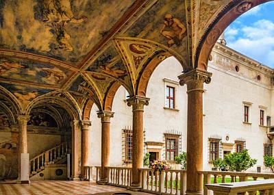 Photograph - Loggia In Buonconsiglio Castle by Carolyn Derstine