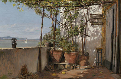 Painting - Loggia On Procida by Martinus Rorbye
