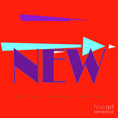 Digital Art - Logo Tile  What Is New by Zsanan Narrin