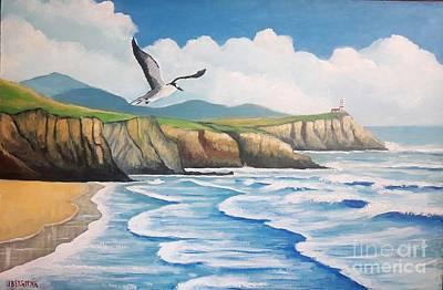Painting - L'oiseau Solitaire by Jean Pierre Bergoeing
