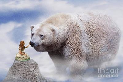 Digital Art - Lolita And The Bear by Ed Taylor
