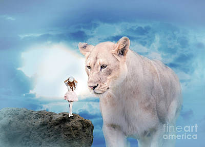 Digital Art - Lolita And The Lion by Ed Taylor