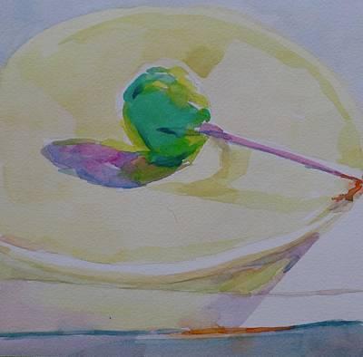Painting - Lollipop In Green  by Jo Mackenzie