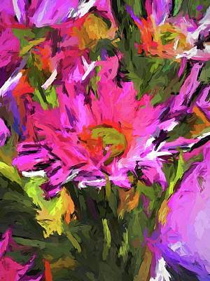 Painting - Lolly Pink Daisy Flower by Jackie VanO