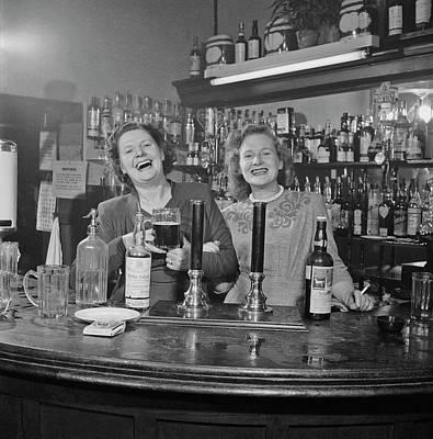 Pub Photograph - London Barmaids by Slim Aarons