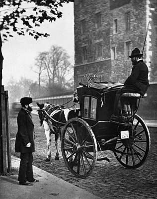 London Cabmen Art Print by John Thomson