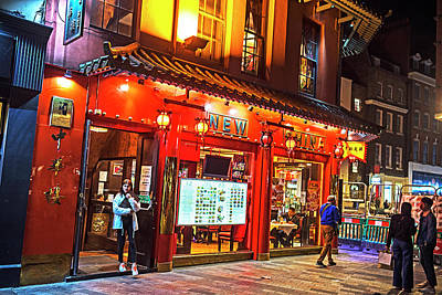 Photograph - London Chinatown Nightlife United Kingdom Uk Lanterns by Toby McGuire
