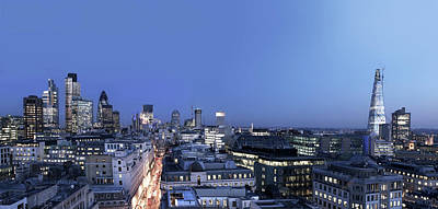 Financial District Photograph - London City Lights by Imagegap