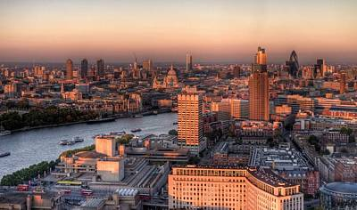 Cityscape Photograph - London Cityscape At Sunset by Michael Lee