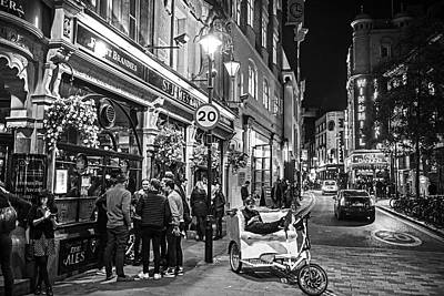 Photograph - London England Nightlife St. James Pub Great Windmill Street Black And White by Toby McGuire