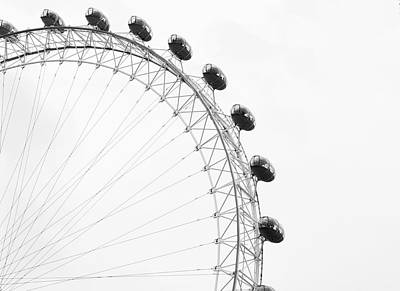 Photograph - London Eye In Black And White by Shanna Baker