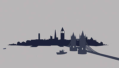 Digital Art - London, Great Britain by Ralf Hiemisch