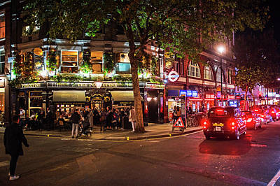 Photograph - London Nightlife Leicester Square London Uk United Kingdom England by Toby McGuire