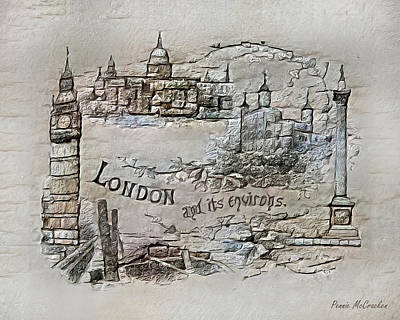 Digital Art - London by Pennie McCracken