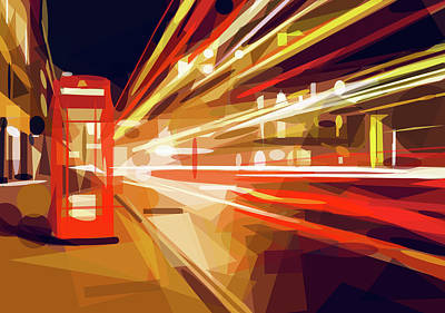 Digital Art - London Phone Box by ISAW Company