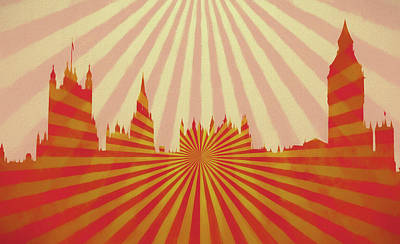 London Skyline Royalty-Free and Rights-Managed Images - London Pop Art by Dan Sproul