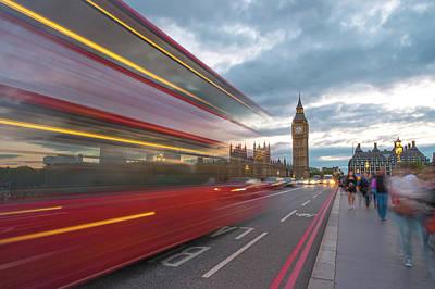 London Rush Hour Art Print by Rob Maynard