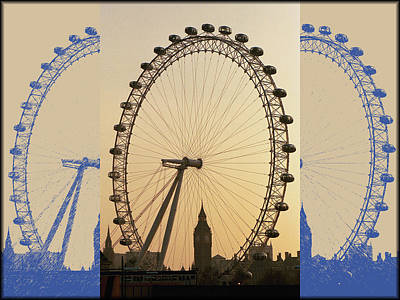 Digital Art - London Spokes by David Bader