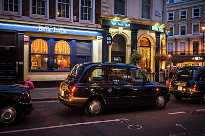 Photograph - London Taxis At Night London Uk United Kingdom by Toby McGuire