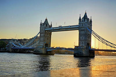 Photograph - London Tower Bridge Sunrise Marble Reflection London Uk by Toby McGuire