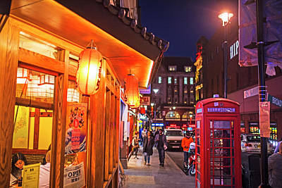 Photograph - London Uk Chinatown Telephone Box Lanterns London Uk United Kingdom by Toby McGuire