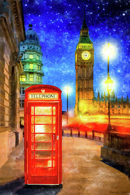 Mixed Media - London Under The Stars by Mark Tisdale
