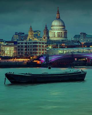 Photograph - Londons Night Skyline by Roland Shainidze Photogaphy