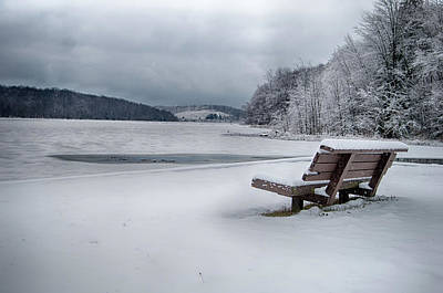 Photograph - Lone Bench by Dan Urban