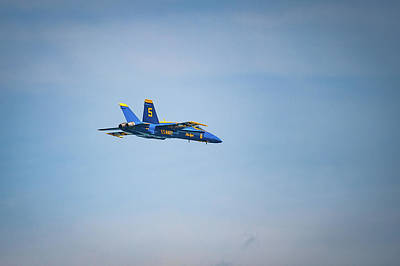 Photograph - Lone Blue Angel by Mark Duehmig