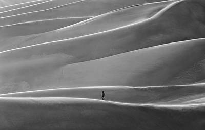 Art Print featuring the photograph Lone Sand Trekker by Rand