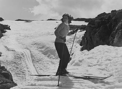 Photograph - Lone Skier by Bert Hardy