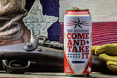 Photograph - Lone Star Come And Take It Can by JC Findley