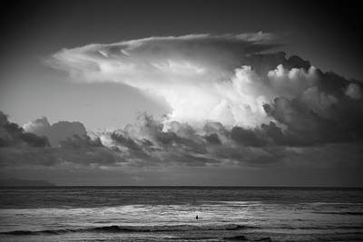 Photograph - Lone Surfer  by John Rodrigues