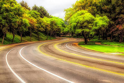 Digital Art - Long And Winding Road 3 by Alison Frank