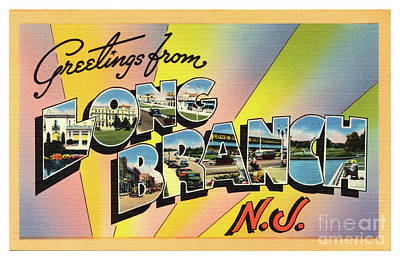 Photograph - Long Branch Greetings by Mark Miller
